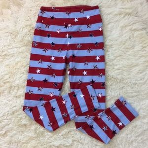 LulaRoe red white & blue 4th of July leggings